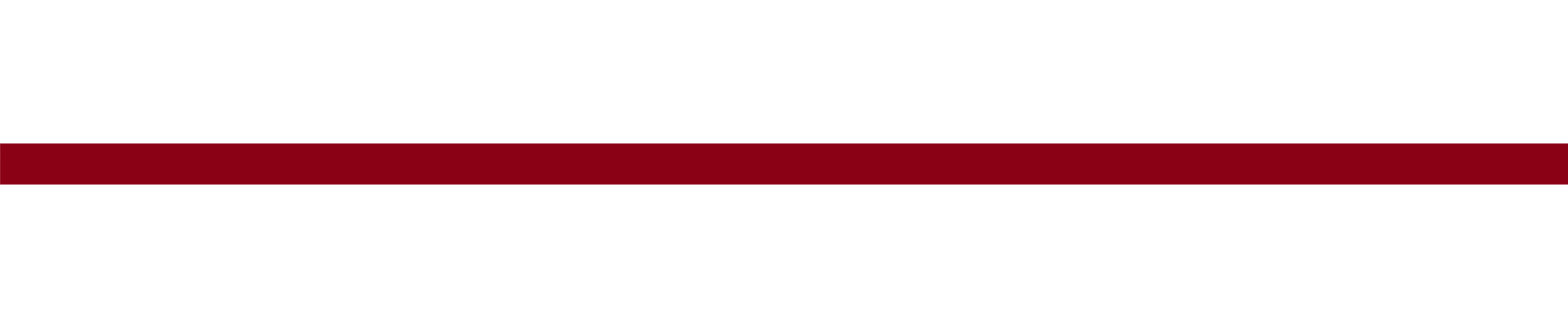 Thin, solid red bar used for decorative purposes only