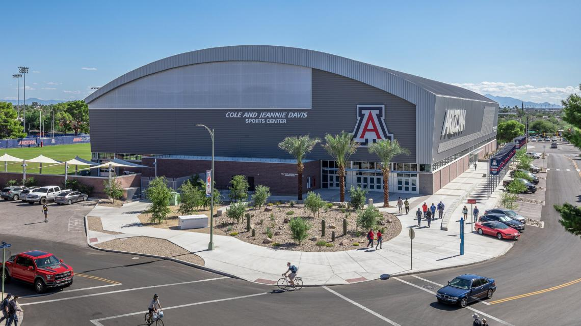Picture of the Cole and Jeannie Davis Sports Center as seen during the day
