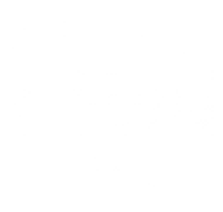 Graphic text that reads Bear Down Life